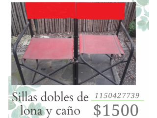 VENTA IMPERDIBLE DE SILLAS DOBLES