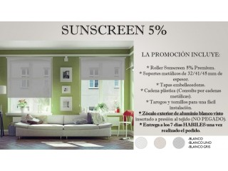 Cortinas Roller Sunscreen 5% Premium