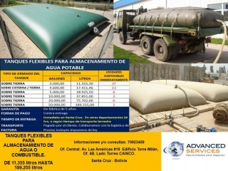 Vendo Tanques Flexibles para Almacenar Agua Potable