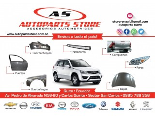 FAROS,CAPOT,GUARDACHOQUES,Accesorios Automotrices Multimarca