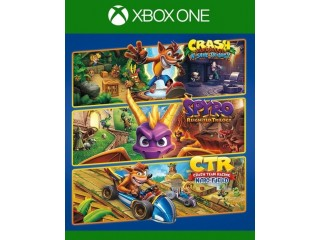 Lote triple de juegos de Crash y Spyro para Xbox One