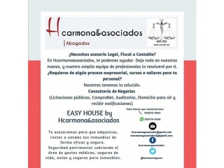 DESPACHO LEGAL Y CONSULTORIA DE NEGOCIOS HCARMONA & ASOCIADOS by EASY HOUSE INMOBILIARIA
