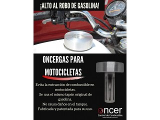 Dispositivo anti-extracción de combustible en motocicletas