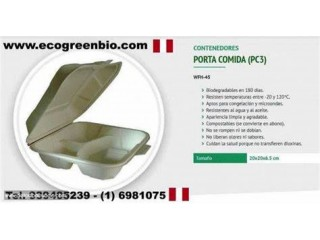 ENVASES descartables ECOLOGICOS BIODEGRADABLES LIMA PERU