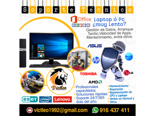 FORMATEO DE LAPTOPS Y PC'S A DOMICILIO